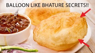 Bhature - Balloon Like Perfect Bhatura Chole Recipe Secrets - CookingShooking