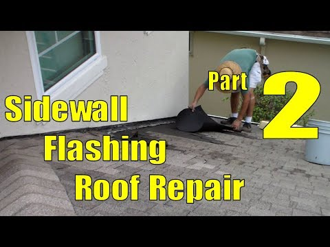 Asphalt Shingle Sidewall Flashing Repair   2 of 3 Cleaning Roof Repair