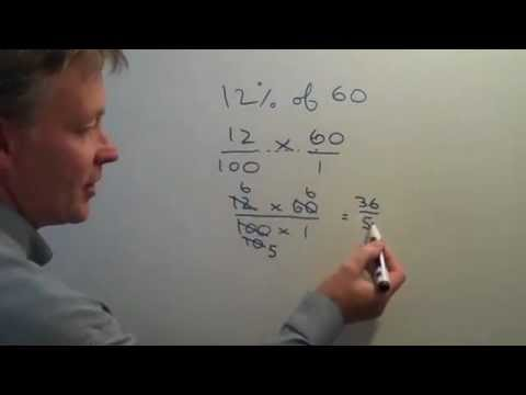 How to work out percentages of whole numbers using fractions