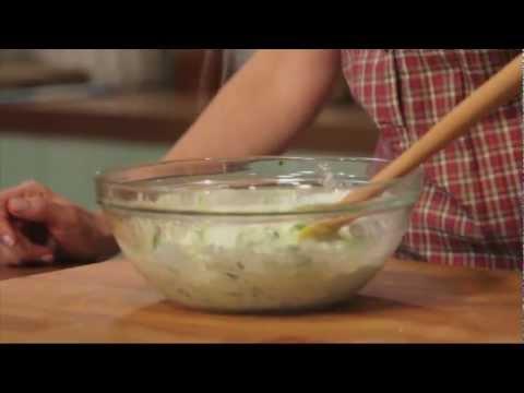 TZATZIKI (Cucumber, Garlic and Yogurt Dip): GreekRecipes.tv