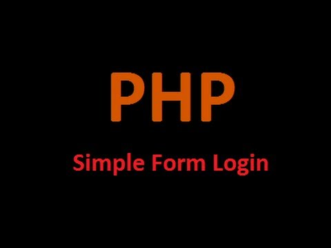 PHP Tutorial - Simple Login Form