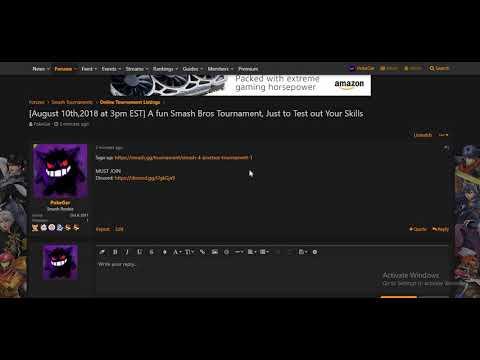 A Made a Super Smash Bros For Wii U Online Tournament