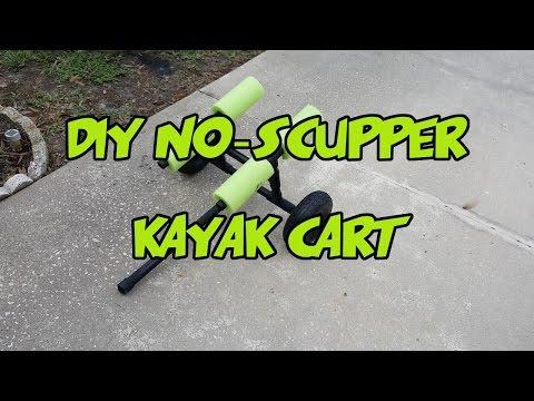 DIY Kayak Cart/Trolley Not Using  Scupper Holes