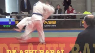 """JUDO Using effortless hip power to """"break balance"""" & a foot-sweep or any throw"""