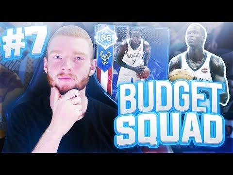 BUDGET SQUAD #7 - CRAZY UPGRADES!! NBA 2K18 MYTEAM!