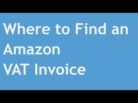 Where to Find an Amazon VAT Invoice