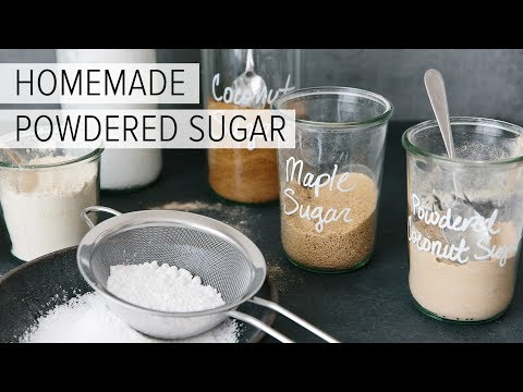 HOW TO MAKE POWDERED SUGAR (IN 30 SECONDS) | quick & easy