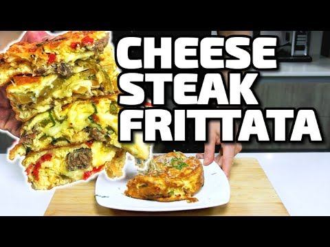 CHEESE STEAK FRITTATA!!!