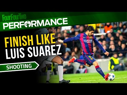 How to finish like Luis Suarez   Soccer shooting drill