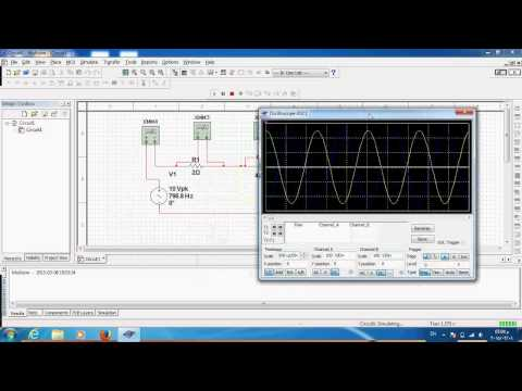 Using NI Multisim to design and simulate RLC series resonance