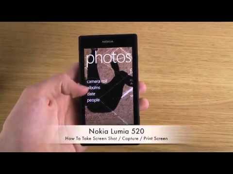 How To Take Nokia Lumia 520 Screen Shot & Capture & Print Screen
