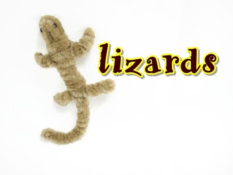 Pipe Cleaner Craft - Lizards