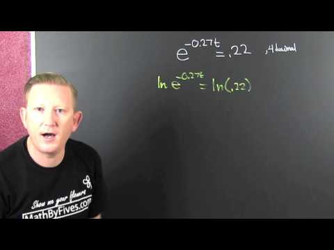 Solving exponential equations with decimals