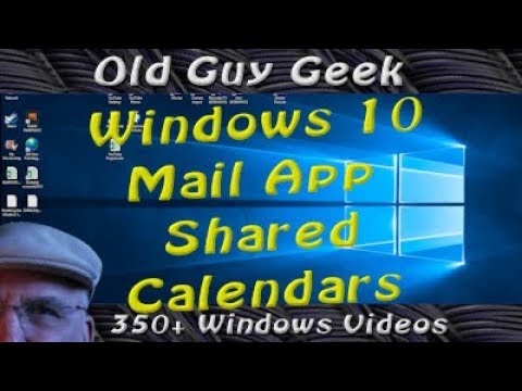 Window 10 Mail App - Shared Calendars with Outlook or GMail