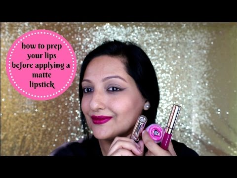 How to prep your lips before applying a matte lipstick