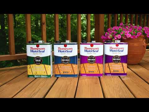 Stain Your Deck in Two Simple Steps: Thompson's WaterSeal Signature Series Stain & Sealer