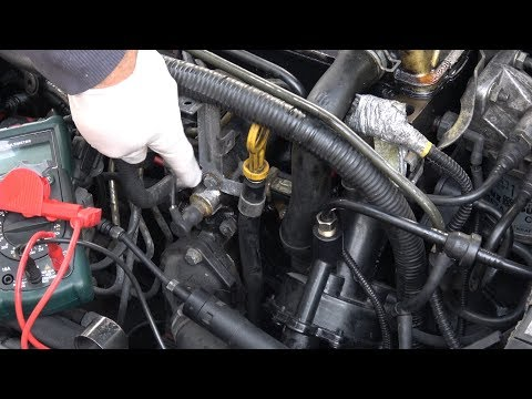 Coolant temperature sensor checking WITHOUT REMOVING IT