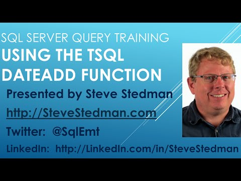 Using the TSQL DateAdd Function