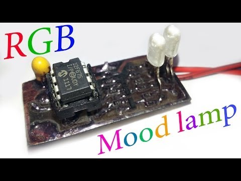 RGB Mood lamp project with PIC 12F675 / Simple RGB LED blinker controller