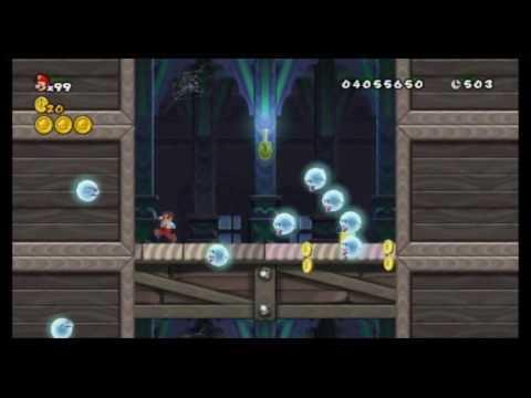 New Super Mario Bros Wii - All Warp Cannon Locations