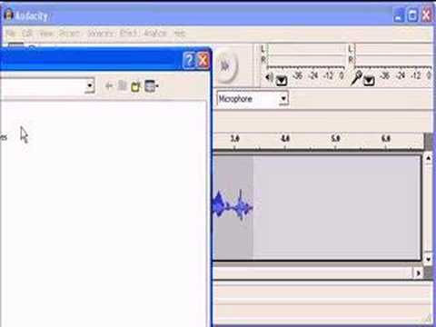 Audacity Create a WAV with Mic