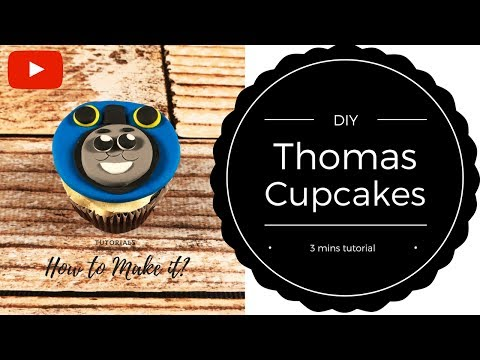 How to make Thomas cupcakes? (3 mins tutorial) | Irma's Fondant Cakes