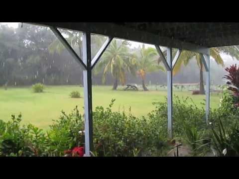 Torrential Rain on Kauai in the Hawaiian Islands