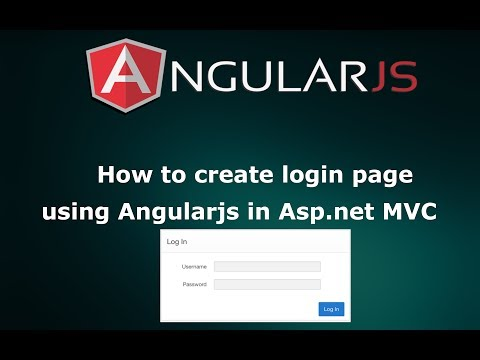 How to create Login Page using Angular JS in Asp.net MVC