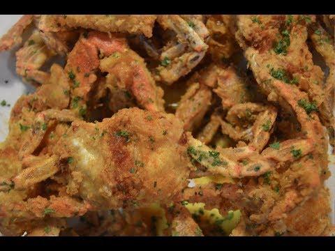 deep fried blue crab