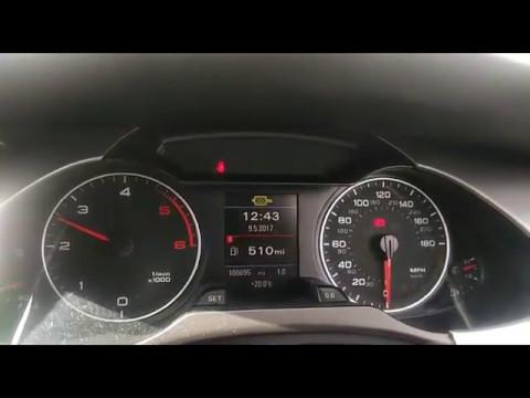 Audi A4 DPF Regeneration - how it's done