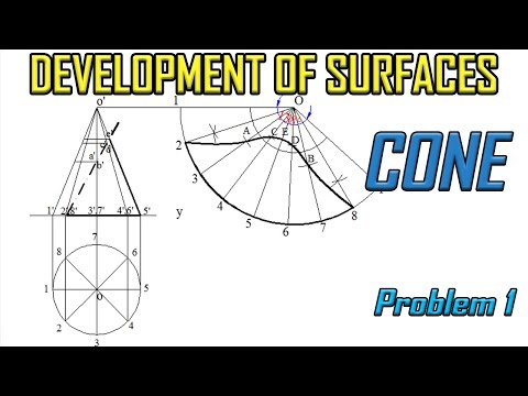 Development of Surface of Cone_Problem 1