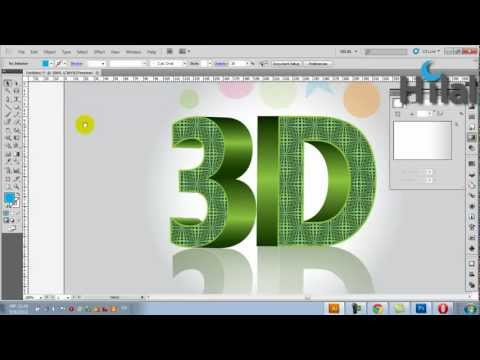 3D Text Design Tutorial in Adobe Illustrator