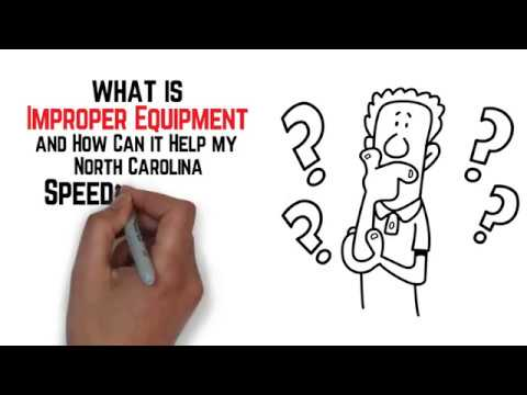 What is Improper Equipment & How Can it Help with My North Carolina Speeding Ticket? - iTicket.law
