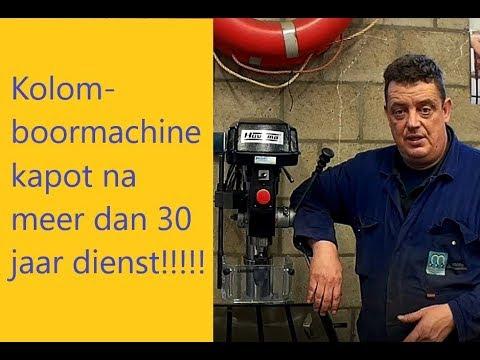 Kolomboormachine kapot na 30 jaar trouwe dienst wat nu!!!!