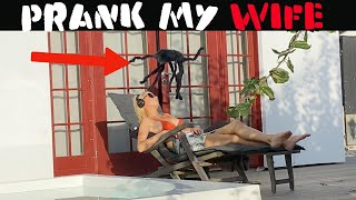 GIANT SPIDER PRANK ON WIFE🕷-Julien Magic