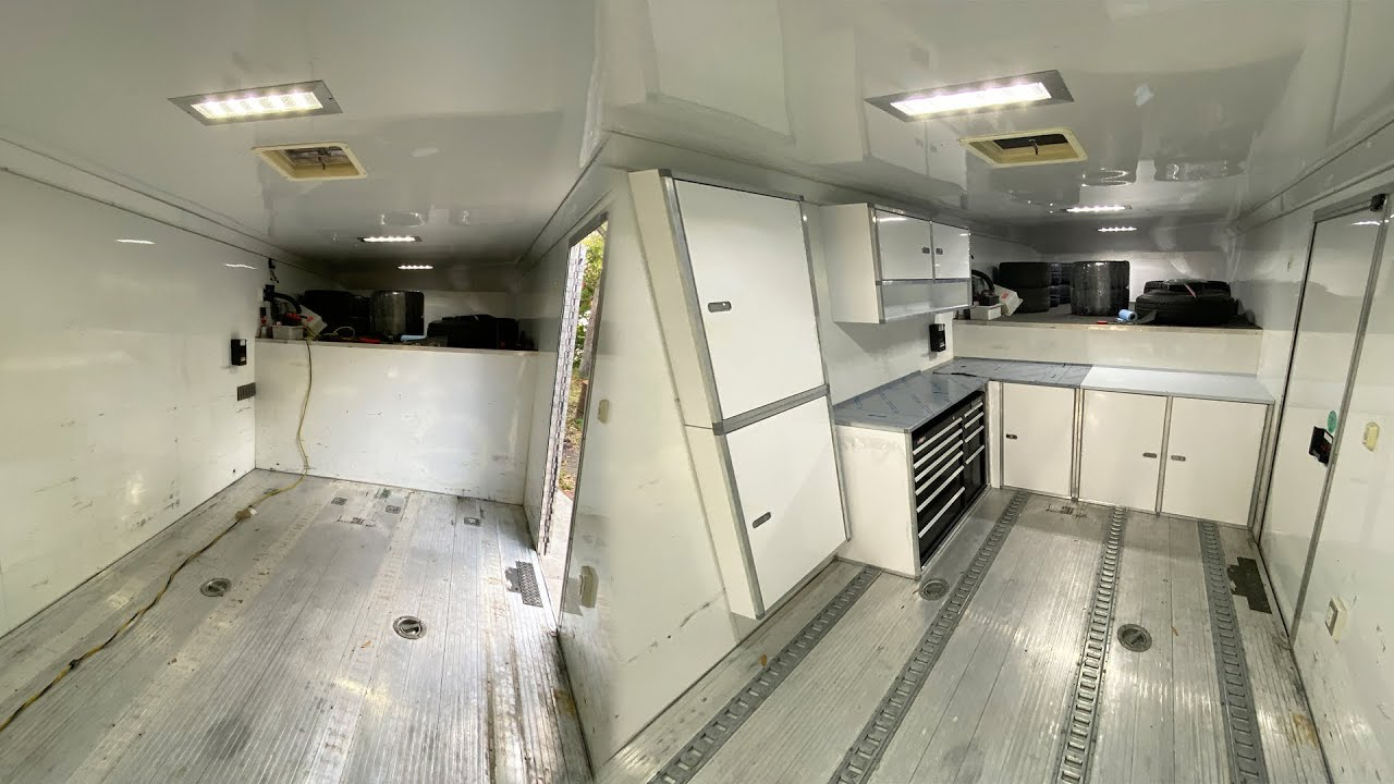 Building out my gooseneck enclosed race trailer from an empty shell.
