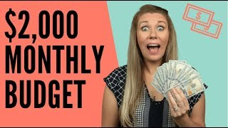 BUDGET FOR A $2,000 MONTHLY INCOME