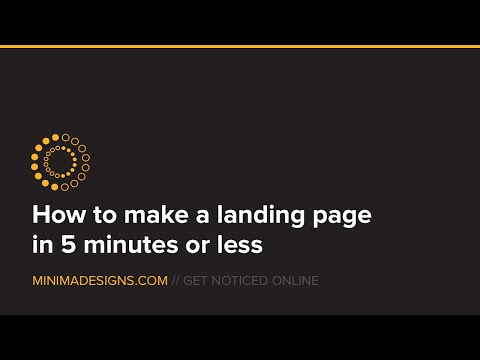 How to make a simple landing page in Wordpress in 5 minutes or less