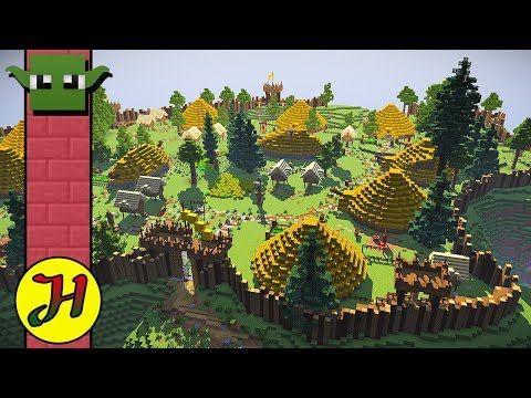 Lets Build a Minecraft Iron Age Hill Fort
