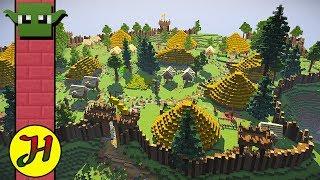 Minecraft Tutorial: Motte & Bailey Castle (Survival Village