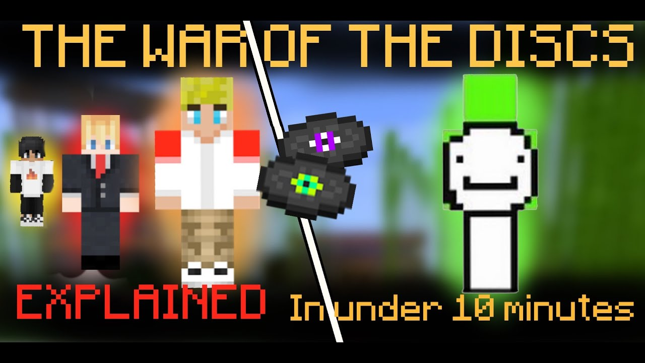 The War of The Discs...in 10 MINUTES. [Dream Team SMP War #1]