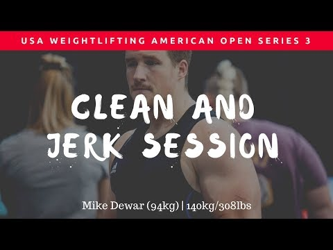 140kg/308lbs Clean and Jerk at 2017 USA Weightlifting American Open Series 3