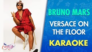 Bruno Mars - Versace On The Floor (Karaoke) | CantoYo