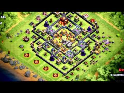 Air troops attack (Balloons and Minions) clash of clans