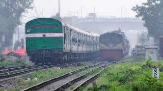 Crossing Between Nilsagar Express Train & Turag Express Train || Bangladesh Railway