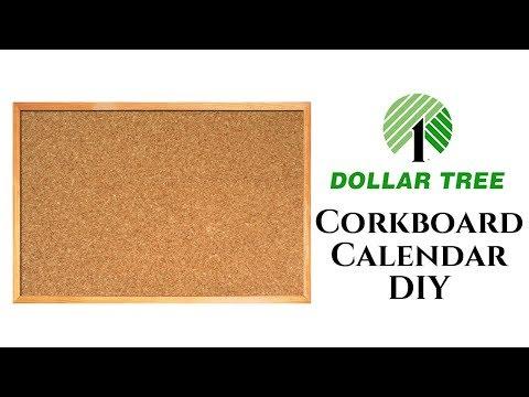 Dollar Tree DIY Cork Board Calendar 2018