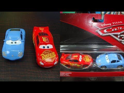 Disney pixar cars unboxing. Sally Carrera and Lightning McQueen.