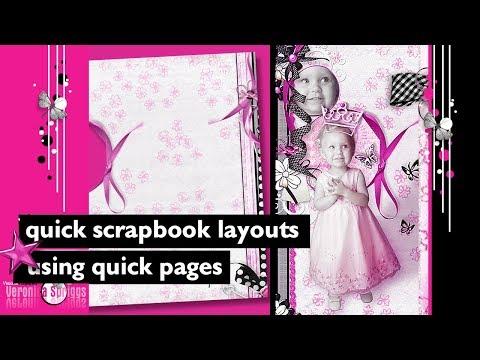 Digital Scrapbook Tutorial - Digital Scrapbook Layouts Using Quick Pages