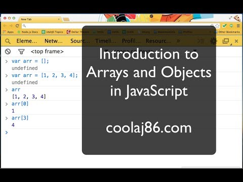 Introduction to Objects & Arrays in JavaScript