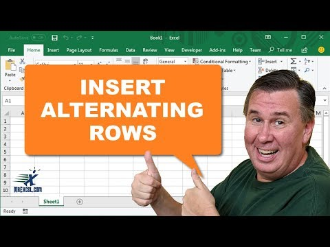 Learn Excel - Inserting Alternating Rows - Podcast 2209